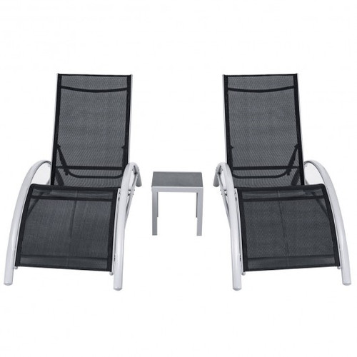 3pc Outdoor Patio Pool Lounger Set