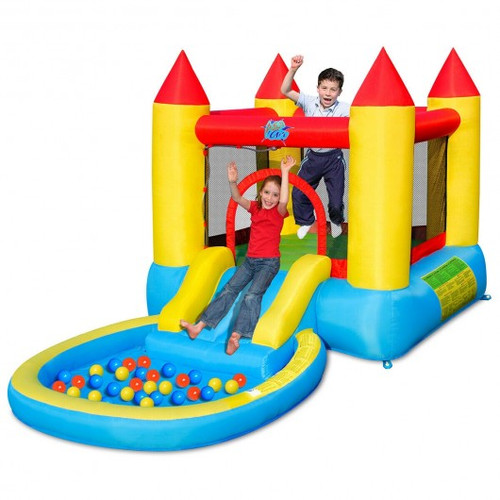 Inflatable Children Slide Bounce House w/580w Blower