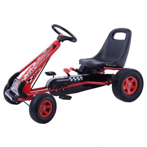 4 Wheels Children Ride On Pedal Powered Bike Go Kart Racer Car Outdoor Play Toy-Red