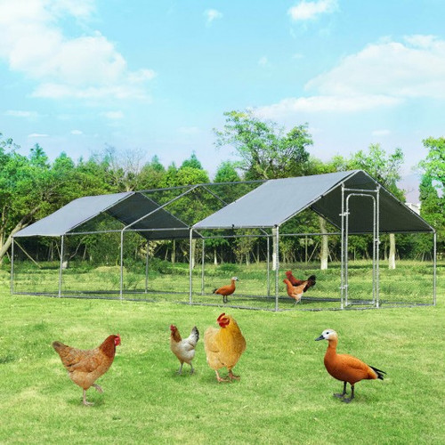 Large Walk In Chicken Coop w/Roof Cover Backyard