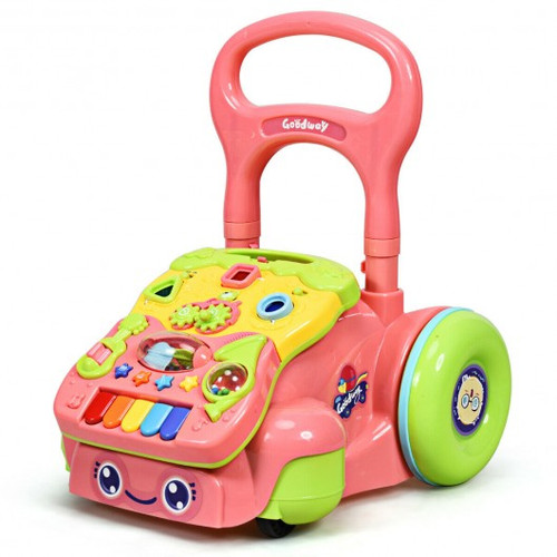 Early Development Toys for Baby Sit-to-Stand Learning Walker-Pink
