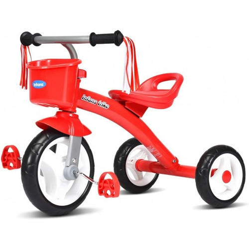 Children's Tricycle Rider w/Adjustable Seat-Red