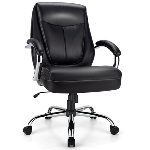 500 Pounds Big & Tall High Back Adjustable Leather Office Chair Task Chair