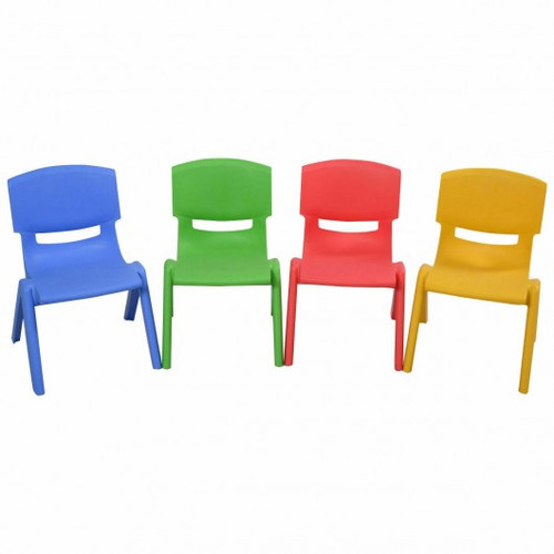4-pack Colorful Stackable Plastic Children Chairs