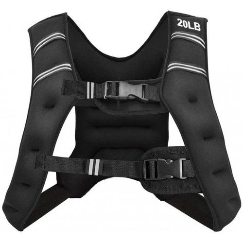 Training Weight Vest Workout Equipment w/Adjustable Buckles & Mesh Bag-20 lbs