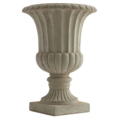 """Multicolor 20.25"""" Large Sand Colored Urn Indoor/Outdoor) - 20.25"""""""