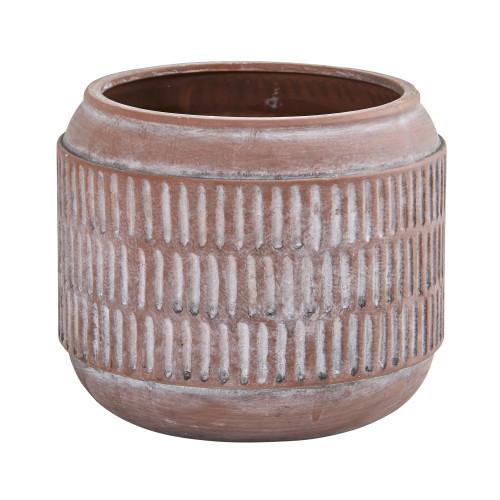 """Multicolor 8"""" Boho Chic Ceramic Embossed Planter - 6"""""""