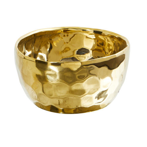 "Multicolor 6.75"" Designer Gold Bowl - 3.5"""