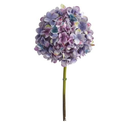 "Blue Lavender 19"" Hydrangea Artificial Flower (Set of 3) - 19"""