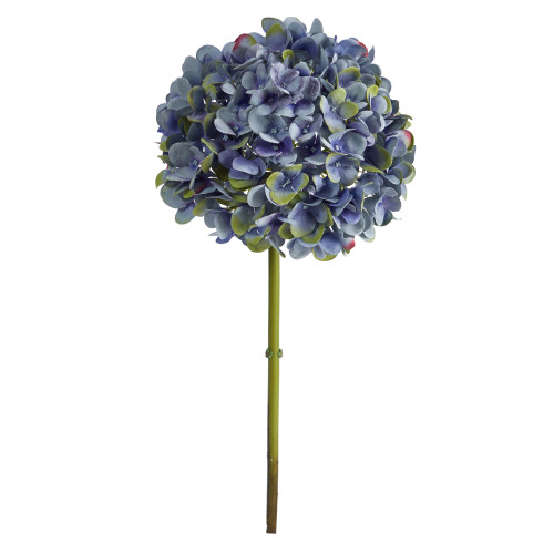 "Dark Blue 19"" Hydrangea Artificial Flower (Set of 3) - 19"""
