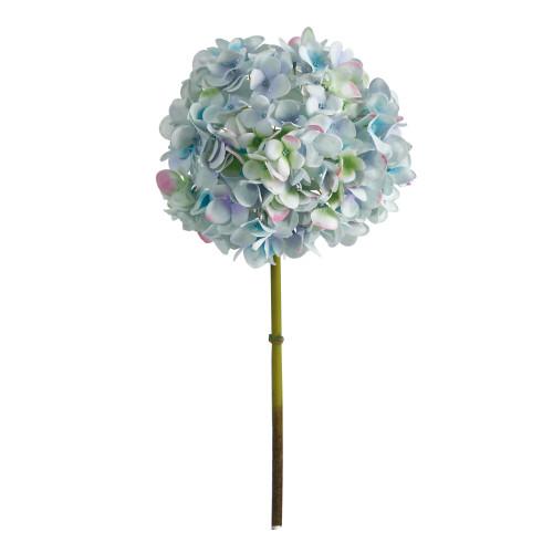 """Light Blue Green 19"""" Hydrangea Artificial Flower (Set of 3) - 19"""""""