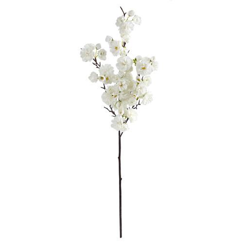 "White 35"" Cherry blossom Artificial Flower (Set of 3) - 35"""