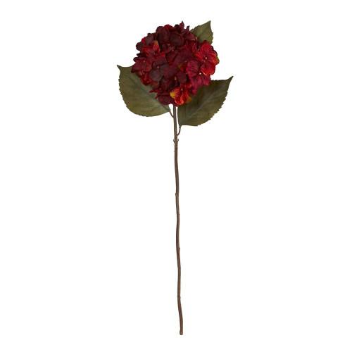 "Burgundy Hydrangea Artificial Flower (Set of 6) - 32"" (2368-S6-BG)"
