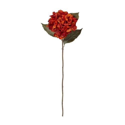 "Orange 32"" Hydrangea Artificial Flower (Set of 6) - 32"""
