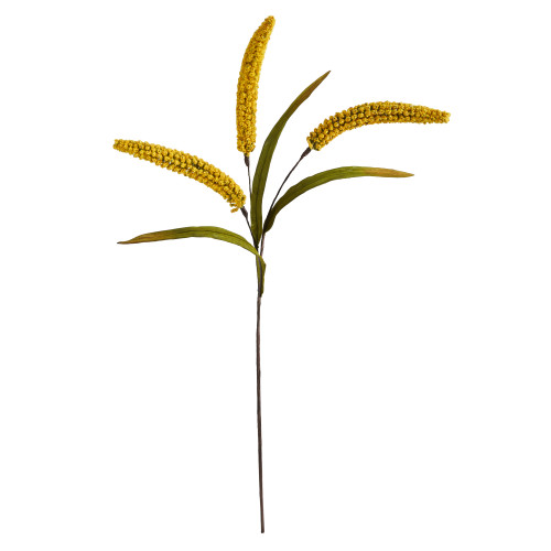 """Yellow 30"""" Sorghum Harvest Artificial Flower (Set of 12) - 30"""""""