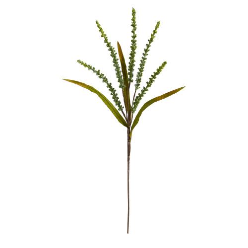 "Green 30"" Wheat Harvest Artificial Flower (Set of 12) - 30"""