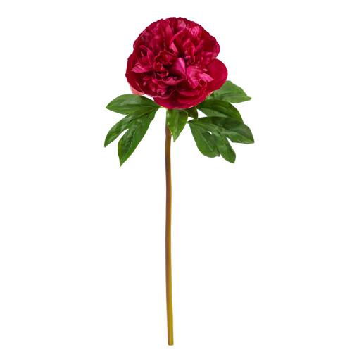 "Fucshia 20"" Peony Artificial Flower (Set of 3) - 20"""