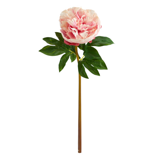 """Hot Pink 20"""" Peony Artificial Flower (Set of 3) - 20"""""""