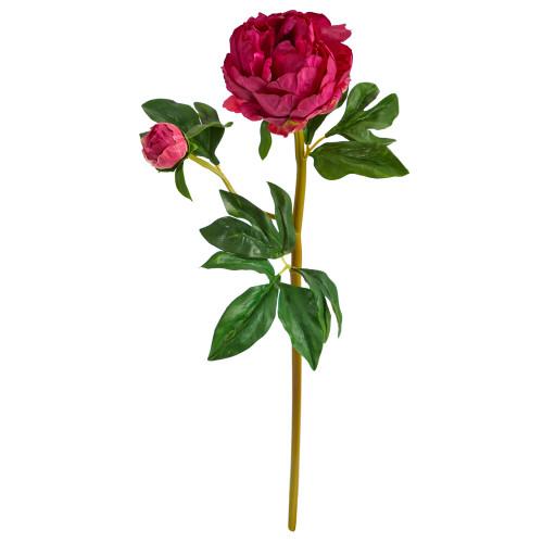"Fucshia 22"" Peony Artificial Flower (Set of 3) - 22"""