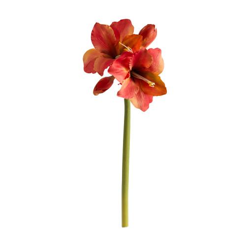 """Orange 31"""" Amaryllis Artificial Flower (Set of 3) - 31"""""""