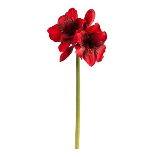 "Xmas Red 31"" Amaryllis Artificial Flower (Set of 3) - 31"""