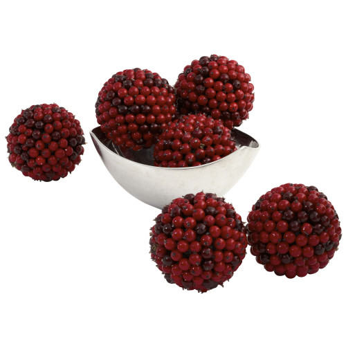 """Multicolor 5"""" Red Berry Ball (Set of 6) - 4.5"""""""