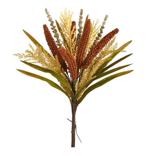 "Multicolor 23"" Sorghum Harvest Artificial Bush Flower (Set of 3) - 23"""