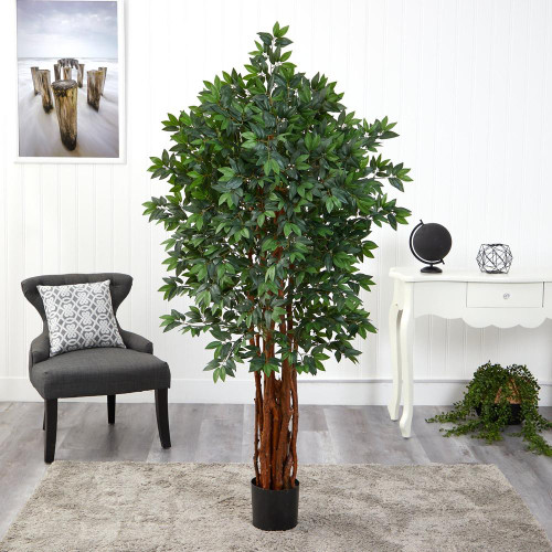 Multicolor Lychee Artificial Tree with Natural Trunk - 5.5 Ft. (T1541)