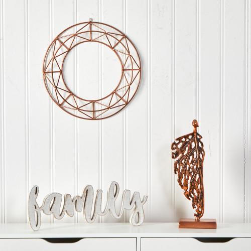 """Multicolor Geometric Copper Wall Decor - 16"""" (7050)"""