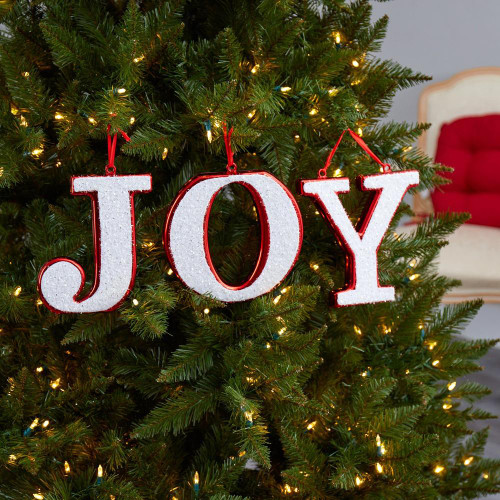 "Multicolor JOY Holiday Deluxe Shatterproof Ornament Set - 8"" (D1048)"