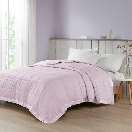 Lilac Purple Premium Oversized Down Alternative Blanket - All Season Blanket (Cambria-Lilac-Blanket)