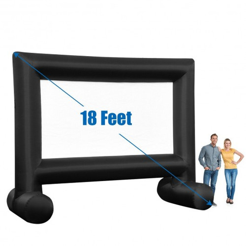 Inflatable Outdoor Movie Projector Screen with Blower and Carrying Bag-18'