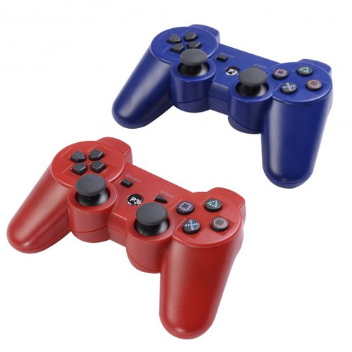 Lot 2 Wireless Controller for Sony PS3 Red Blue Play Station 3