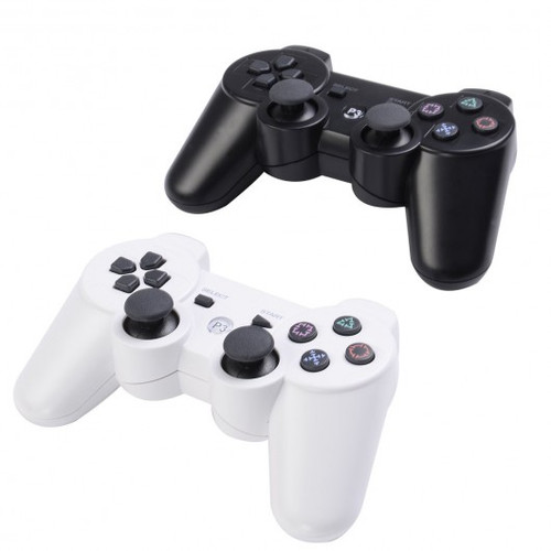Lot 2 Wireless Controller for Sony PS3 Black White Play Station 3 New