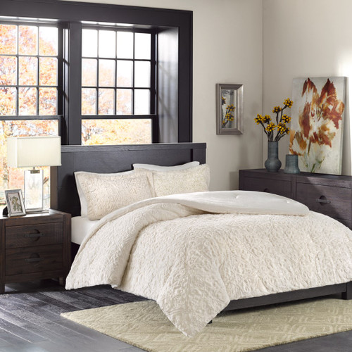 Ivory Ultra Plush Comforter AND Pillow Shams (Bismarck-Ivory)