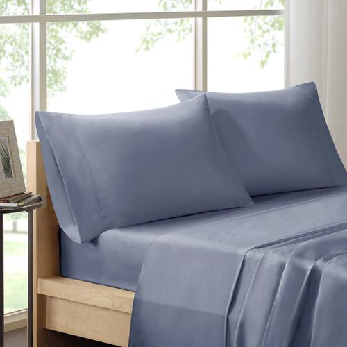 4pc Blue 300TC Pima Cotton Sheet Set (SHET20-385)