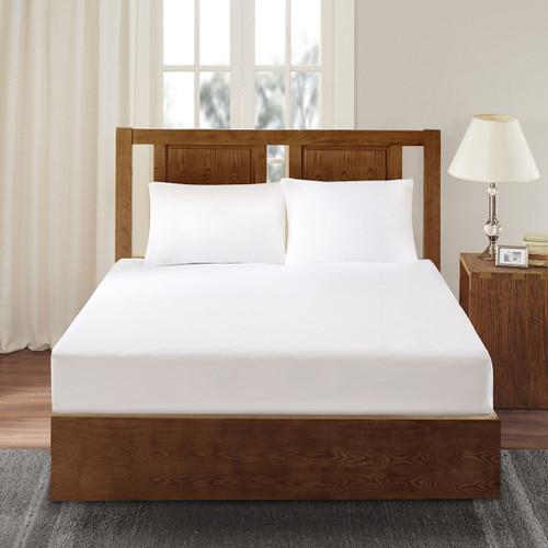 White Microfiber WATERPROOF Scotchgard Mattress Protector (Bed Guardian-White)