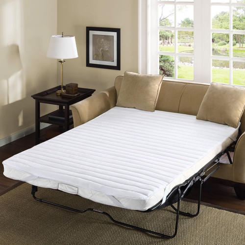 White WATERPROOF Back Sofa Bed Mattress Pad (Frisco-White)