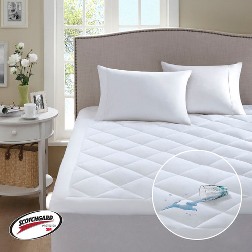 White Hypoallergenic WATERPROOF Mattress Pad (Serenity-White)