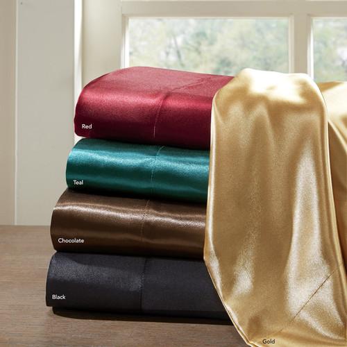 Luxury 6pc Satin Sheet Set - Wrinkle Free - Deep Pockets (Satin)