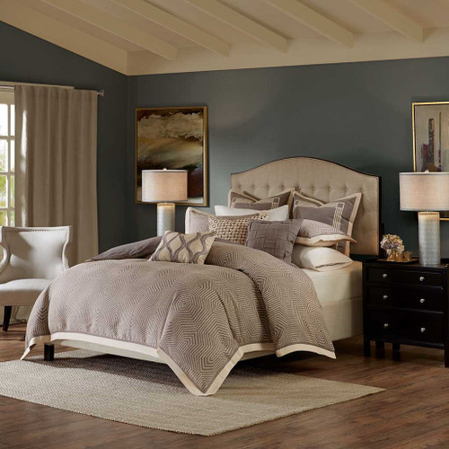 Shades of Grey Woven Textured Comforter Set AND Decorative Pillows (Shades of Grey)