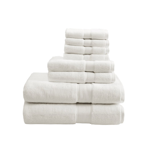 8pc Cream 800GSM Long Staple Cotton Bath Towel Set (800GSM-Cream)