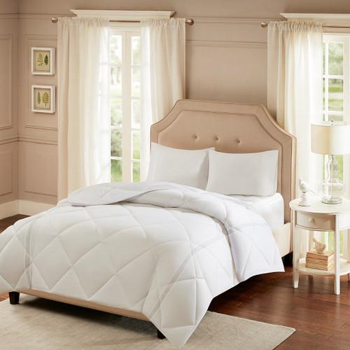 Coolmax White Microfiber Down Alternative Comforter (Smart Cool-comf)