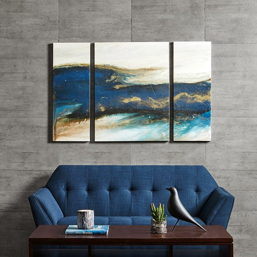 Rolling Waves Gel Coated Canvas-Set of Three (Rolling Waves-Art)