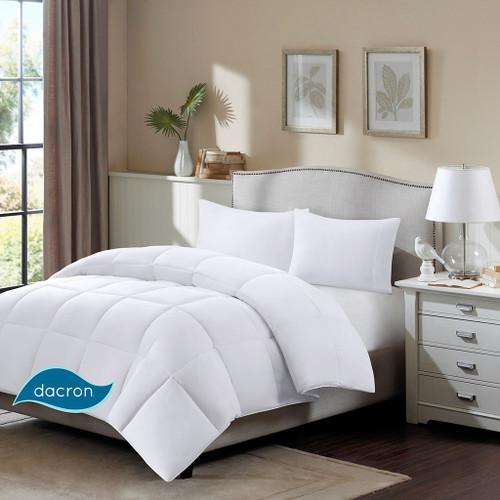 White 3M Scotchgard Supreme Down Blend Comforter (Northfield-White)