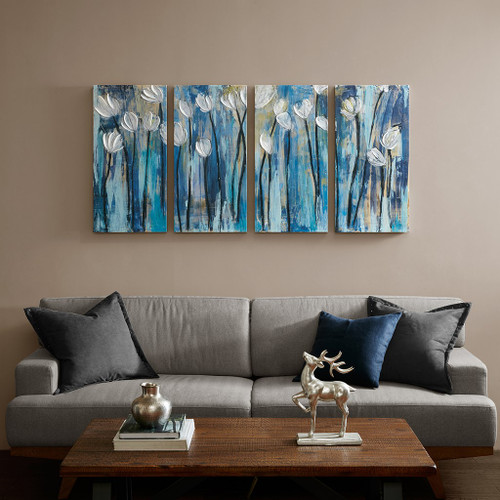 Ocean Breeze Blossom 4 Piece Set Gel Coat Printed on Canvas (Ocean Breeze-Art)