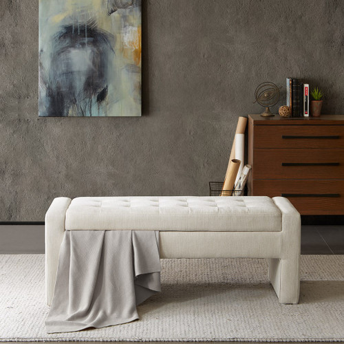 Gillian Cream Storage Bench (Gillian Cream-Benches)