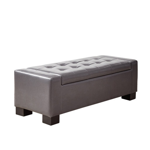 Mirage Grey Tufted Top Storage Bench (Mirage Grey Benches)