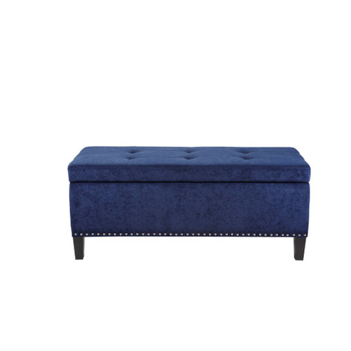 Shandra II Blue Tufted Top Storage Bench (Shandra II Blue-Benches)