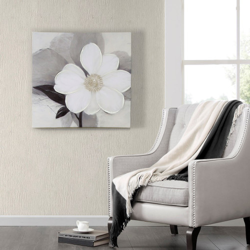 Midday Bloom Canvas With Hand Embellishment (Midday Bloom-Art)